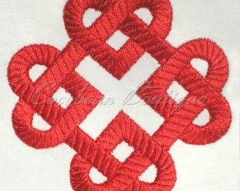 Celtic Knot machine embroidery