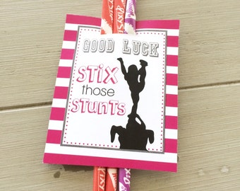 Team gifts good luck favor tags cheer gifts push pop tags cheerleading good luck favor tags cheer gifts pdf file instant download stix those stunt pixie stick gift tags solutioingenieria Gallery