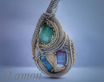 Cotton Candy Tourmaline Wrap