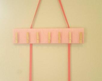 Hair Bow Holder, Baby Headband Holder, Pink Headband Organizer, Girls Bow Hanger, Personalized Bow Organizer, Custom Hair Clip Holder