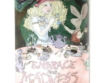 Alice in Wonderland Journal, Alice in Wonderland Themed Gift, Alice in Wonderland Tea Party Art, Lewis Carroll Themed Gift, Cheshire Cat Art