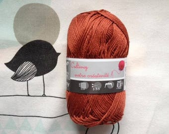 WOOL SUNNY copper - white horse
