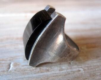 VintagevBlack Onyx Ring.