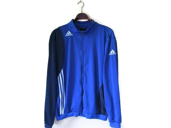 Vintage adidas track giacca blu adidas giacca a vento