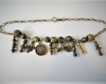 ALICE IN WONDERLAND  Steampunk Boot Jewelry  Bracelet Anklet