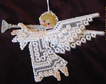 Lacy Angel Christmas Tree Ornament