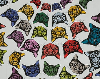 Alexander Henry FABRIC - Nicole's Prints - Cat-Finity in Natural