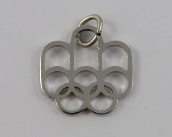 Olympic Rings Sterling Silver Vintage Charm For Bracelet