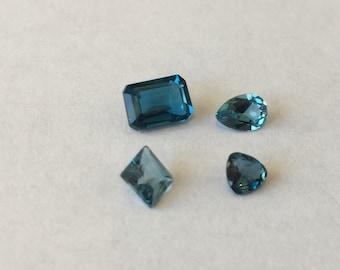 London Blue Topaz Parcel   4 Gemstones