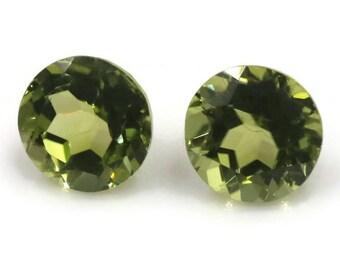 Peridot | Natural Peridot | Peridot Gemstone | Peridot Loose Gemstone | August Birthstone | Green Peridot Round faceted  7x7mm 3.04ct