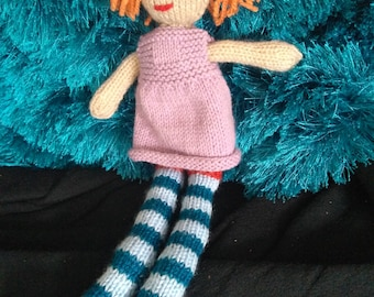 Toy doll, hand knitted