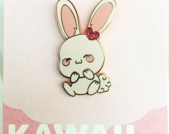 Kawaii Bunny Hard Enamel Pins