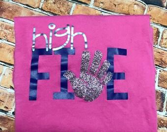 High FIVE birthday shirt/ 5th birthday shirt/ Birthday shirt/ Five birthday shirt/ Personalized birthday shirt