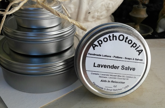 Organic Lavender Salve - Ointment - Balm, Old Fashioned, Eco Friendly Relaxation Rub, Sustainable Living