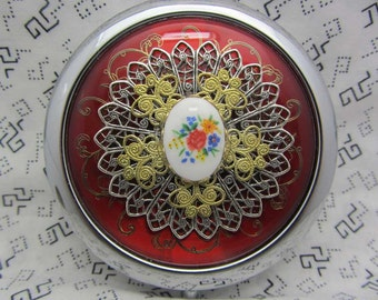 Compact Mirror Spring Blooms Comes With Protective Pouch