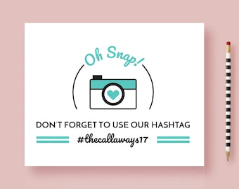 Wedding Hashtag Sign - Wedding Hashtag Reception Sign - IG, Modern and Cheeky - 8x10, 5x7 - Instagram Sign Printable or Printed