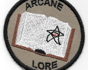 Arcane Lore Geek Merit Badge Patch