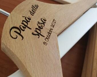Hangers with custom engraving