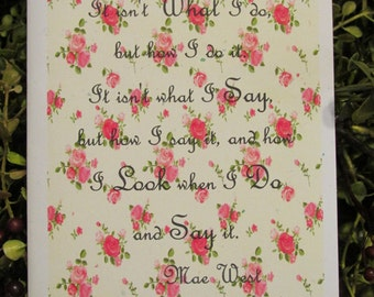 Mae West Quote Everyday Greeting Card