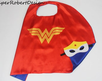 Wonder Woman, Wonder Woman cape and mask, wonder woman costume, wonder woman party, wonder woman party favors