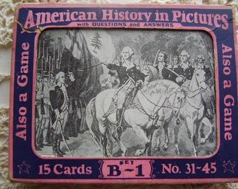 RARE/Antique AMERICAN HISTORY Picures/Game/1929