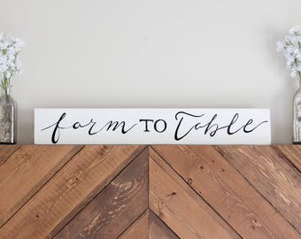 Farm to Table Wood Sign | Home Decor