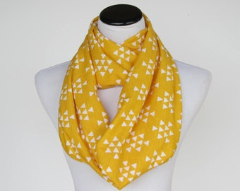 Infinity scarf yellow scarf, autumn color scarf soft jersey knit scarf cotton loop circle scarf matching scarf for mom and little girl boy
