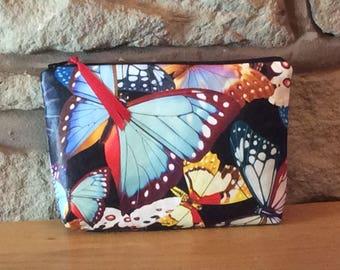 Tropical Butterfly Luxury Glamorous Makeup Bag