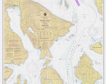 San Juan Islands - Rosario Strait - Northern Part Map - 1985
