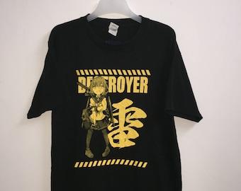 8]--- Shimakaze Destroyer T-Shirt | Anime Collection | Destroyer | Large Size