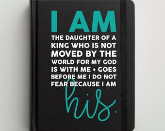 Bible Decal   Bible Journaling Cover   Bible Cover   Bible Verse Decal   Decal for Journal   Bible Sticker   Christian Decal   I am His