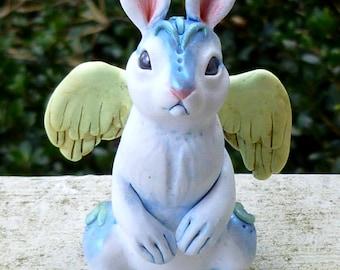 Dusk Bunny sit up, Fantasy Myxie pal Sculpture