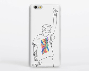 Just Hold On Phone Case iPhone Samsung Gloss Matte Tough Flip Slip Universal One Direction Harry Styles Portrait Drawing Illustration