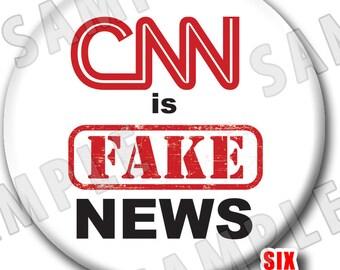 CNN is FAKE NEWS Button No More Propaganda Badge Time for Truth Political Pin