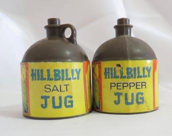 Vintage Hillbilly Jug Novelty Salt and Pepper Shakers