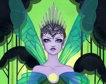 """11x14 """"Titania"""" Queen of the Fairies Print by Leilani Joy"""