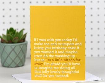 A Little Bit Too Far Away - Birthday Card