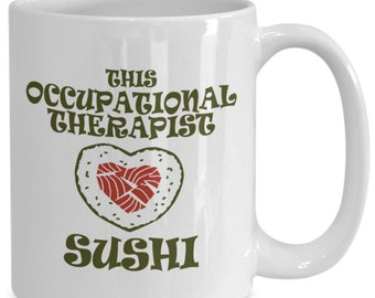 Sushi coffee mug, sushi rolls mug, sushi lovers gift, sushi mug tea cup/decal