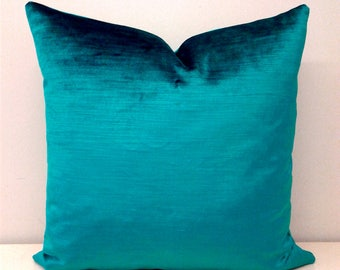 Luxury Teal Green Velvet Pillow Cover, Velvet Pillow, Throw Pillows, Green Pillows, Decorative Pillows, Cushions, Green Velvet Pillow Covers