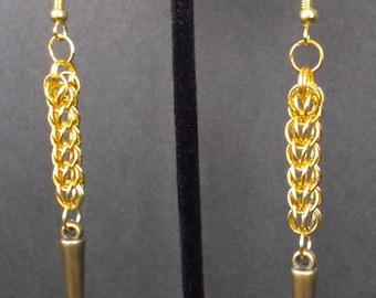 Golden Persian Spike Earrings - E0281b