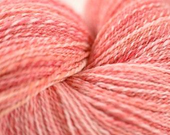 Handspun Yarn, Hand Dyed Merino Wool, 594y Fingering Weight, in Ella Grace