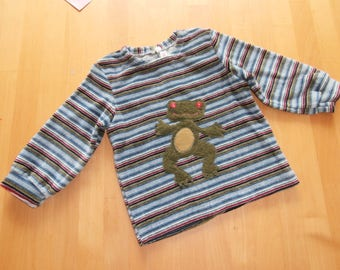 Striped sweater - frog - soft - toddler