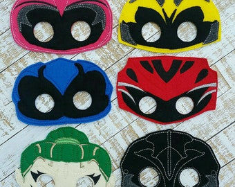 Power Rangers Felt Mask - Inspired by Power Rangers - Costume  Dress-Up - Halloween - Pretend Play - Party Favor Felt With Elastic