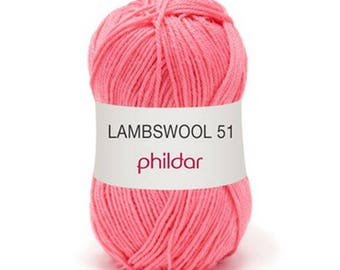"wool LAMBSWOOL color Carnation ""Garance"""