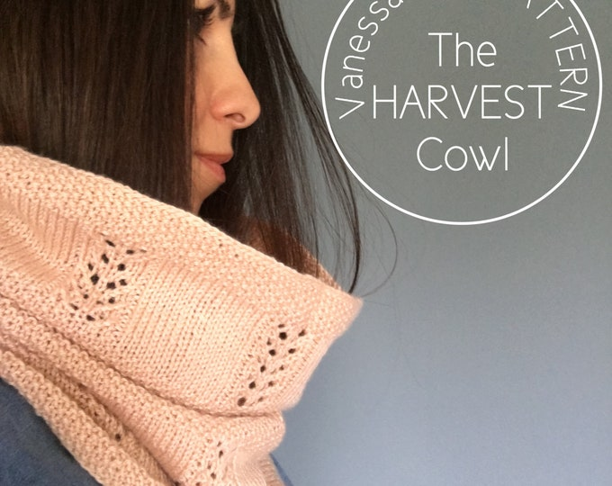 Featured listing image: KNITTING PATTERN - HARVEST Cowl // Delicate Textured Lace // Pichinku Yarn Collaboration // Includes Written Pattern & Chart // Level: Easy+