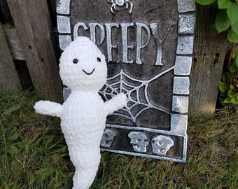 Gabe The Super Soft Halloween Ghost- Crochet Ghost- Halloween Ghost- Halloween Toys