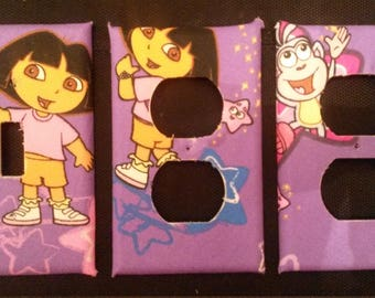 Dora the Explorer and Friends Light Switch and Outlet Covers Adorable and Free Shipping!