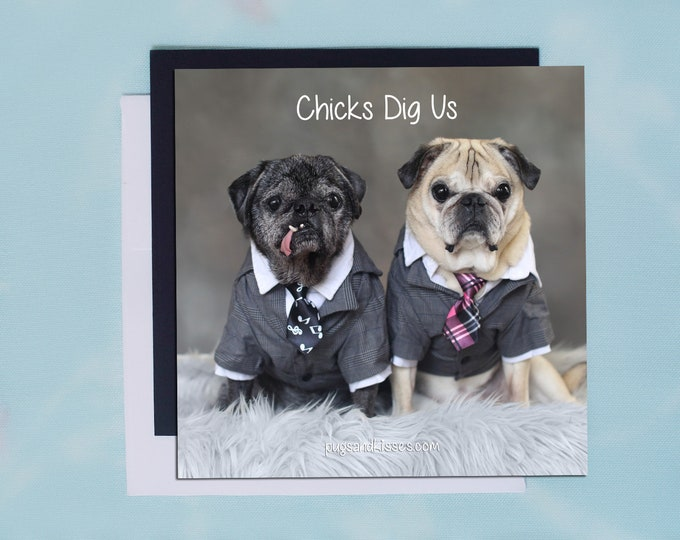 Pug Magnet - I Can't Decide - 5x5 Pug magnet - by Pugs and Kisses
