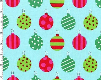 Hang the Ornaments Fabric - Winter - sold by the 1/2 yard