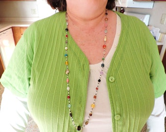 Ready For Summer - Bead Soup Necklace ... One Of A Kind ... Long Necklace with a Variety of Beads